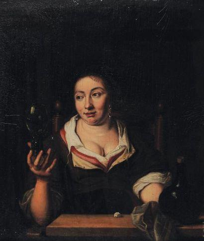 ECOLE HOLLANDAISE DU XVIIIe SIÈCLE, SUIVEUR DE JAN VAN MIERIS