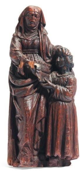 Sainte Anne enseignante et la Vierge en chêne...
