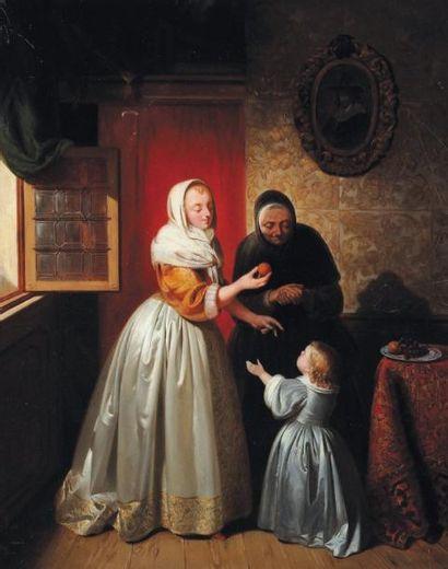 WILLEM JOSEPH VERTOMMEN (ECOLE BELGE, NÉ EN 1815)