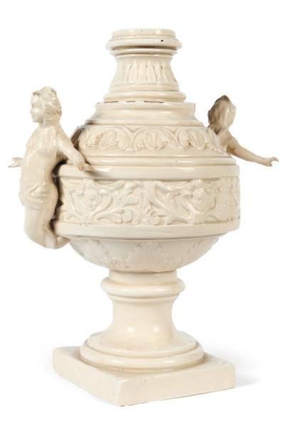 Vase de milieu en céramique vernissée. Milieu...