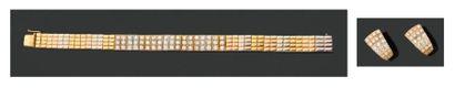 VAN CLEEF & ARPELS. Années 1990 PARURE en ors de couleur. Elle se compose d'un BRACELET...