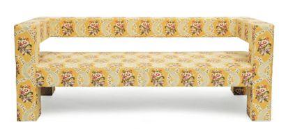 WERNER NEUMAN (NÉ EN 1966) Édition limitée Canapé « Yellow Flower » Bois, mousse...