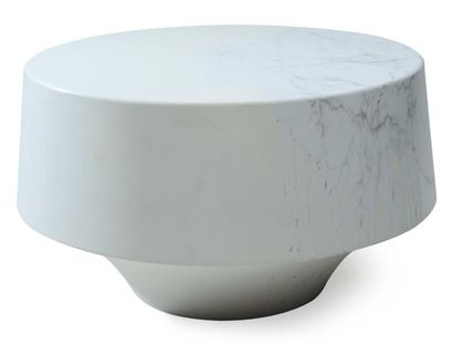 DAMIEN GERNAY Prototype Textured_coffee table Epoxy, trompe l'oeil marbre. 2010....