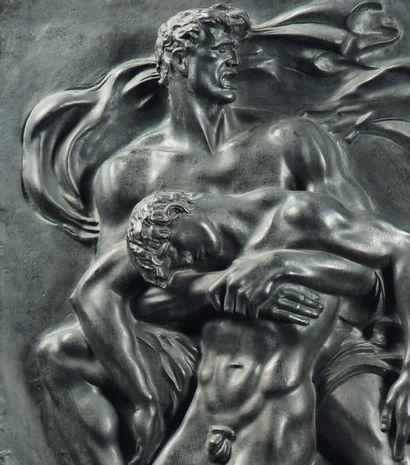 ARNO BREKER (1900-1991) Kameraden Relief, 1939/1940 Bas-relief en bronze Signé en...
