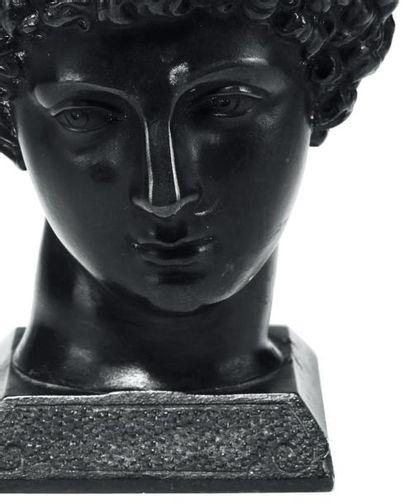 Encrier représentant Antinous Bronze XIXe siècle H_10 cm L_7 cm