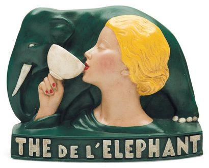 Thé de l'Eléphant Objet publicitaire en plâtre...