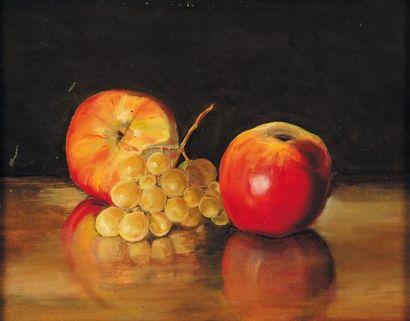 Nature morte aux pommes et aux raisins H_18,5...