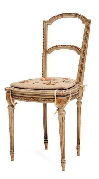 Chaise à barrette style Louis XVI H_33 cm...