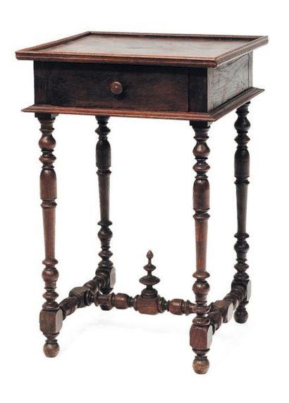 Petite table de salon en bois naturel, ouvrant...