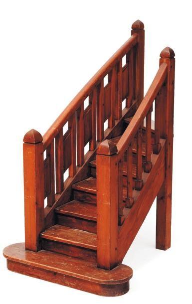 Escalier miniature en bois H_97 cm L_97 cm...