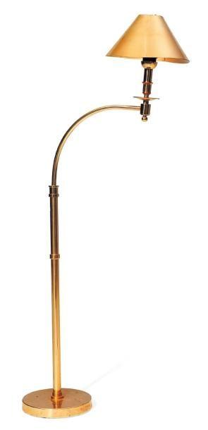 Lampe de lecture en laiton doré H_120 cm...