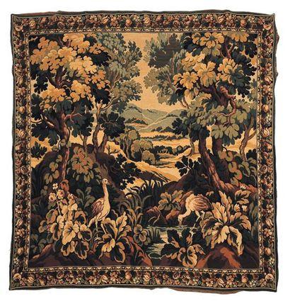Panneau à l'imitation d'une tapisserie d'Aubusson...