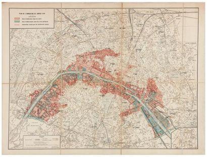 [INONDATIONS de 1910]. Plan de l'inondation...