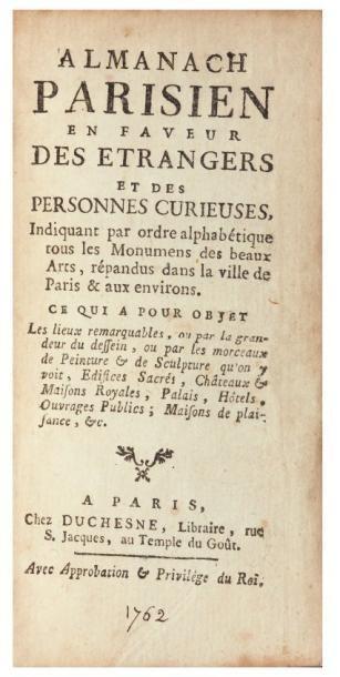 Almanach parisien en faveur des étrangers...