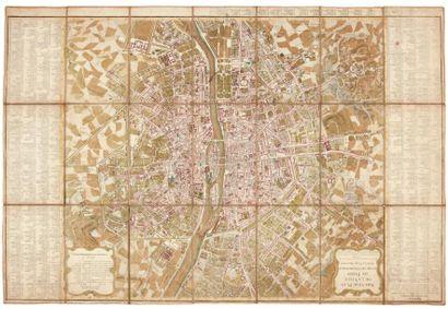 JAILLOT (Jean-Baptiste Michel Renou de Chauvigné, dit) Nouveau plan de la ville de...