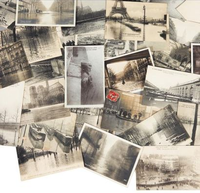 [CRUE DE LA SEINE EN 1910]. Collection de...