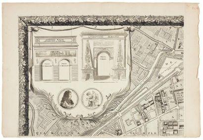 BULLET (Pierre) & BLONDEL (François) Plan de Paris. Levé par les ordres du Roy. Et...