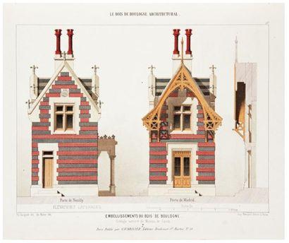 VACQUER (Théodore) Le Bois de Boulogne architectural. Recueil des embellissements...