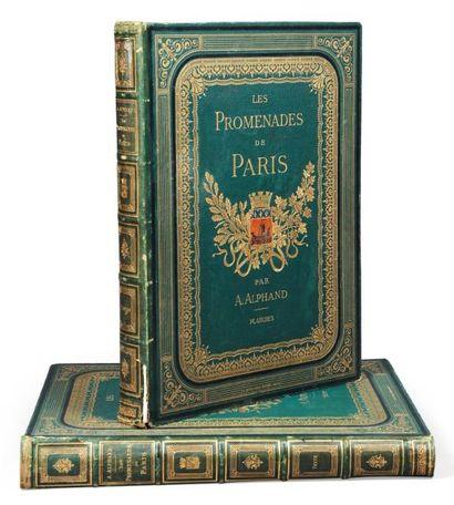 ALPHAND (Jean-Charles Adolphe) Les Promenades de Paris. Histoire, description des...