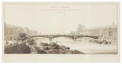[PONTS]. Ensemble de 7 ouvrages. Paris, 1814-1950....