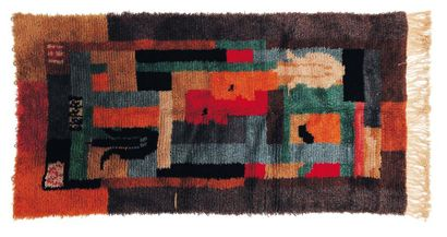 Tapis en laine, à motifs géométriques. 1933....