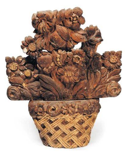 Corbeille de fleurs Elément décoratif en...