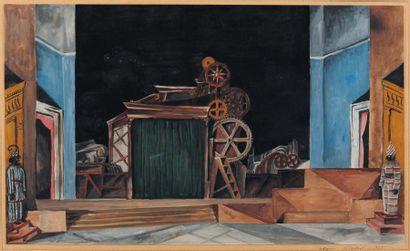 NICOLAS ISZELENOV (1891-1981) et MARIA LAGORIO (1893-1979) Intérieur aux machines,...
