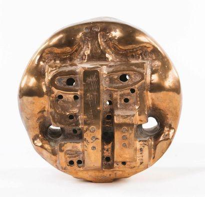 ETIENNE-HENRI MARTIN (1913-1995) La petite demeure miroir Bronze doré Signé, édition...
