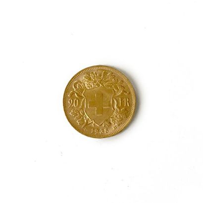 Un lot de 45 pièces de 20 francs suisses. Poids total: 290 g.