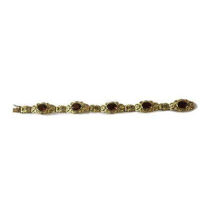 Bracelet en or 18K (750), articulé de maillons...
