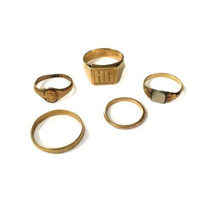 Ensemble de bijoux en or 18K (750) comprenant:...