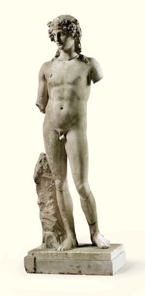 STATUE DE DIONYSOS EN MARBRE, ART ROMAIN,...