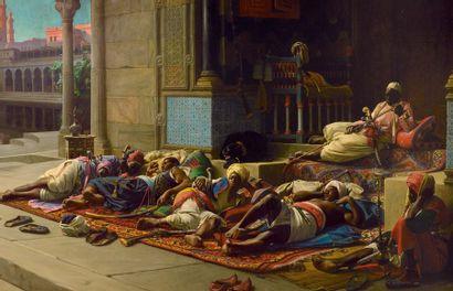 JEAN-JULES-ANTOINE LECOMTE DU NOUŸ 1842-1923 La porte du sérail, souvenir du Caire...