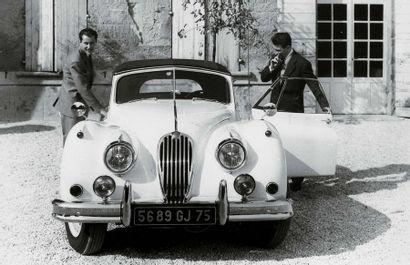 Bernard Buffet 1928 - 1999 Jaguar 1955, 1984 signé Bernard Buffet en haut a gauche;...
