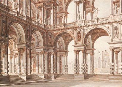 GIUSEPPE GALLI BIBIENA (PARME 1696 - BERLIN 1757)