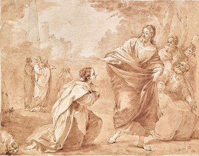 AURELIANO MILANI (BOLOGNE 1675 - ROME 1749),<br/>D'APRÈS LUDOVICO CARRACCI