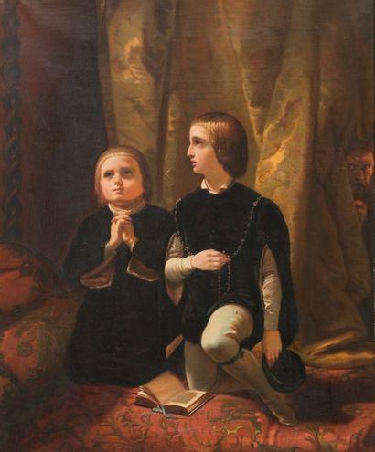 ATTRIBUÉ À HENRI DECAISNE (1799 - 1852)