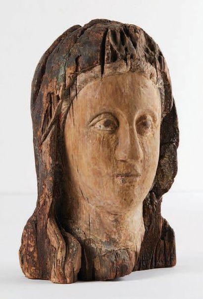 Tête de Vierge en majesté, Sedes Sapientae,...