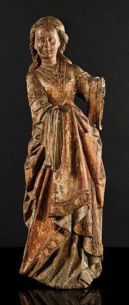 Sainte Marie-Madeleine en noyer sculpté en...