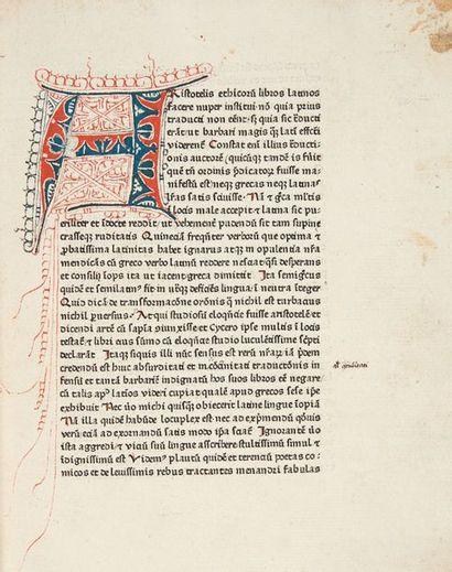 ARISTOTE. Ethica ad Nicomachum.- Politica.- Oeconomica. [Traduction latine de Leonardus...