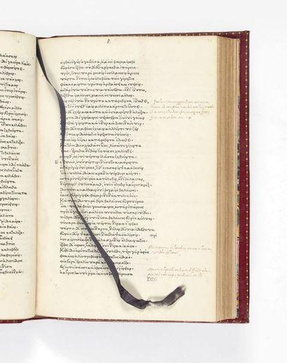 HOMÈRE. Opera [en grec]. Florence, Demetrius Damilas pour Bernardus et Nerius Nerli,...