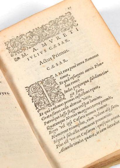 MURET, Marc-Antoine. Juvenilia. Paris, Veuve de Maurice de La P orte, 1552. Petit...