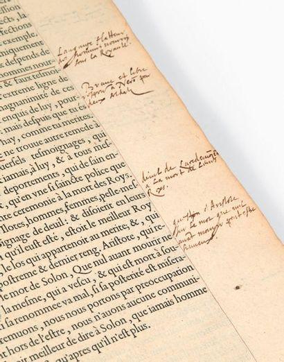 MONTAIGNE, Michel de. Les Essais. Edition nouvelle, trouvee après le deceds de l'autheur,...