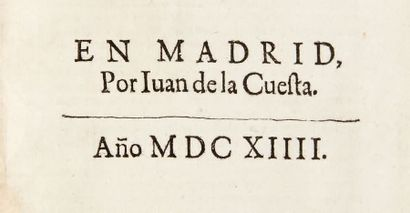 CERVANTES SAAVEDRA, Miguel de. Novelas exemplares. Dirigido a don Pedro Fernandez...