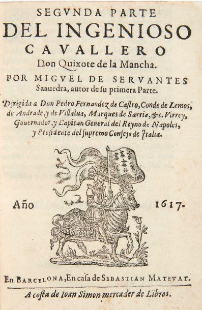 CERVANTES SAAVEDRA, Miguel de. El ingenioso hidalgo Don Quixote de la Mancha. Compuesto...