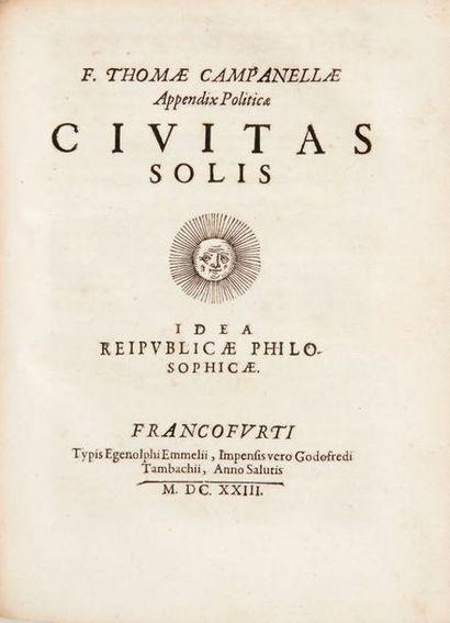 CAMPANELLA, Tommaso. Realis philosophiae epilogisticae partes quatuor [...]. Francfort,...