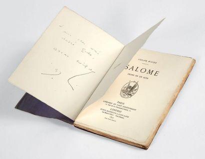WILDE, Oscar. Salomé. Drame en un acte. Paris, Librairie de l'Art indépendant, Londres,...