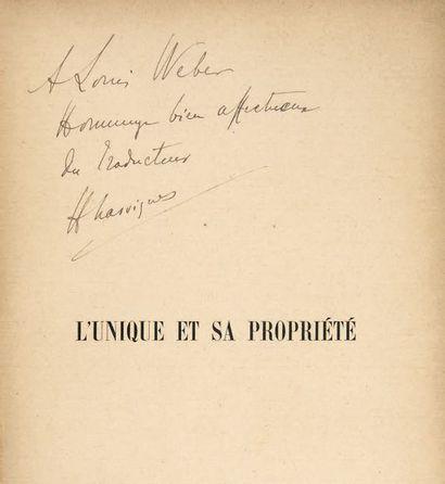 STIRNER, Johann Kaspar Schmidt, dit Max.
