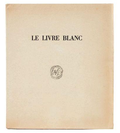 [COCTEAU, Jean.] Le Livre blanc. Paris, Imprimerie de Ducros et Colas, 1928. Petit...