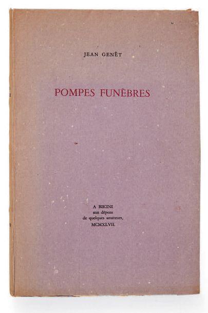 GENET, Jean. Pompes funèbres. A Bikini, aux dépens de quelques amateurs [Paris, Gallimard],...
